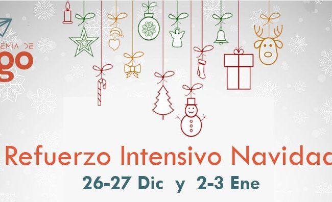 IntensivoRefuerzoEscolar Navidades Madrid Matematicas Eso y Bachillerato